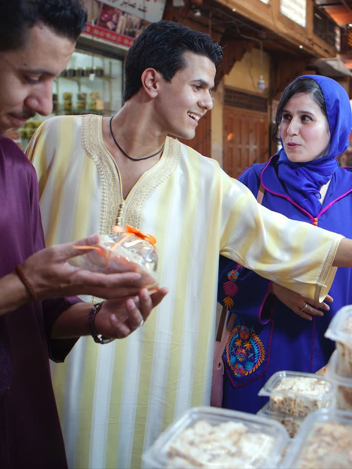 Buying sweets for you in the old medina