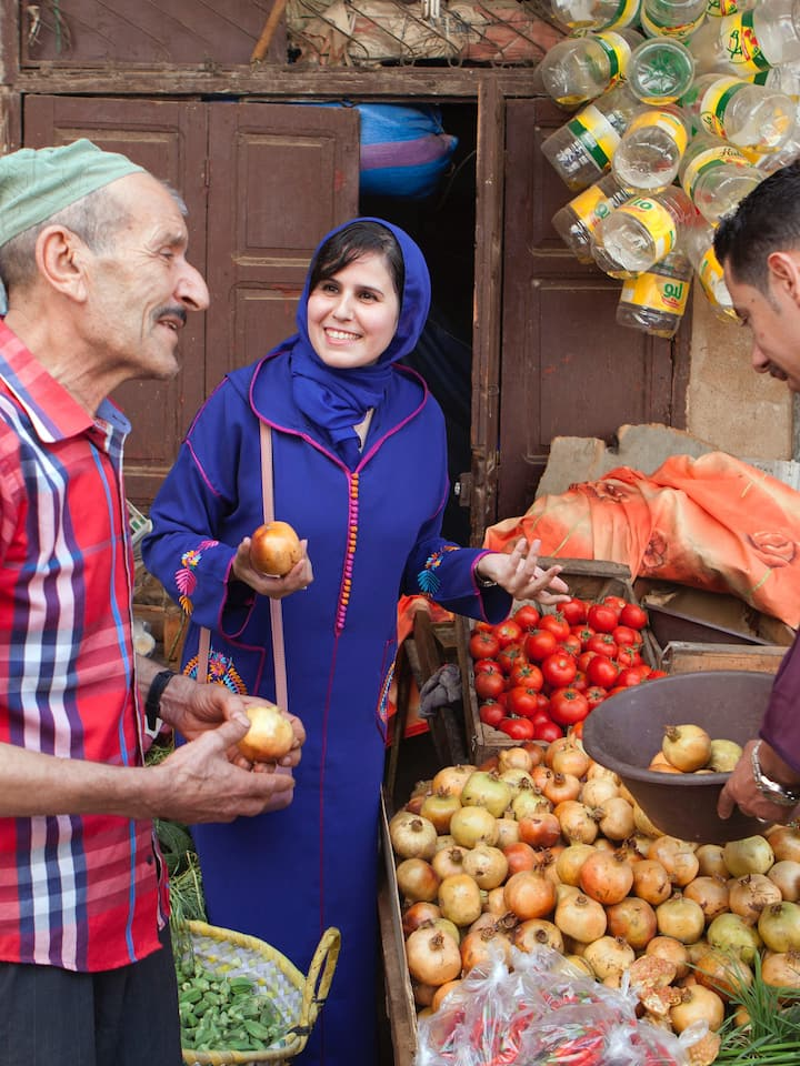 The vegetable seller in the souk