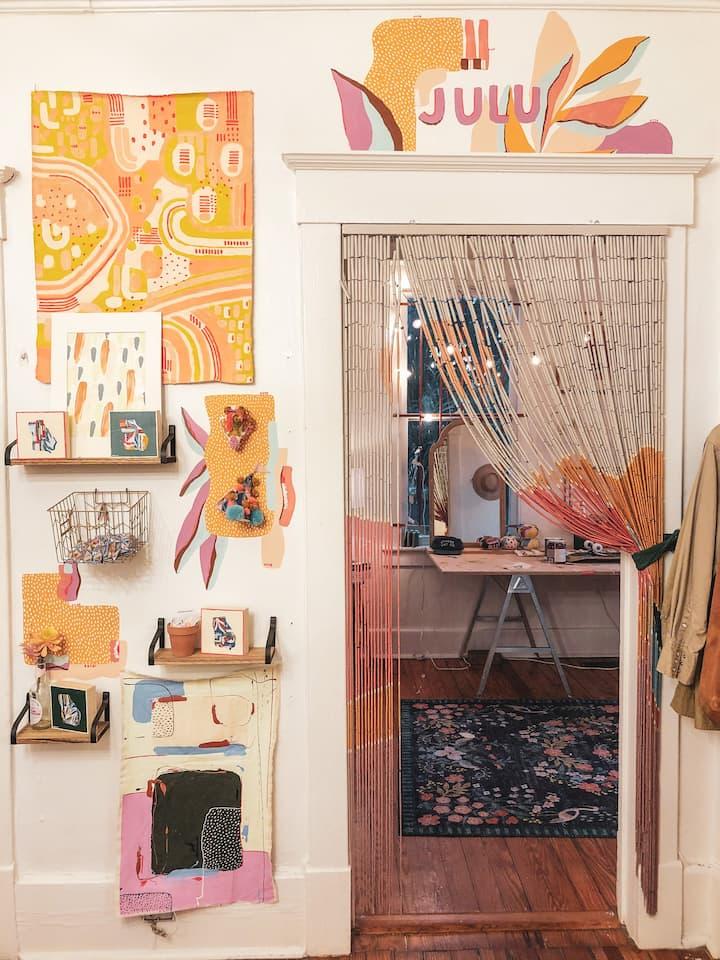 Juliana's studio door