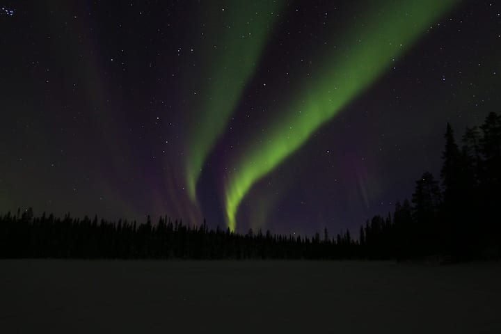 Northern Lights in different colours