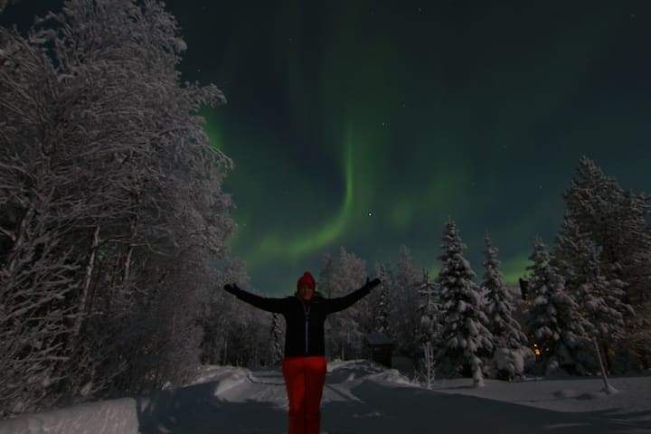 that's me under the northern lights