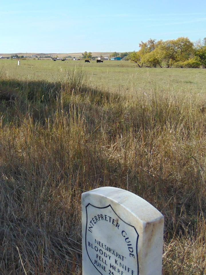 Marker of Bloody Knife, Custer's Scout.
