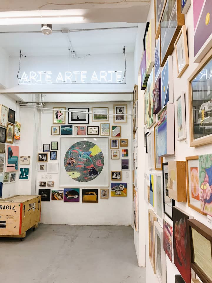 Paintings and prints by local artists