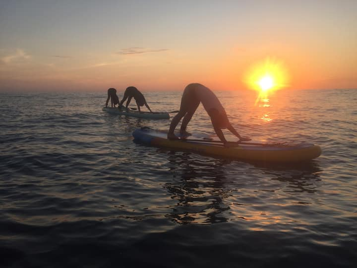 option to try sunset sup yoga