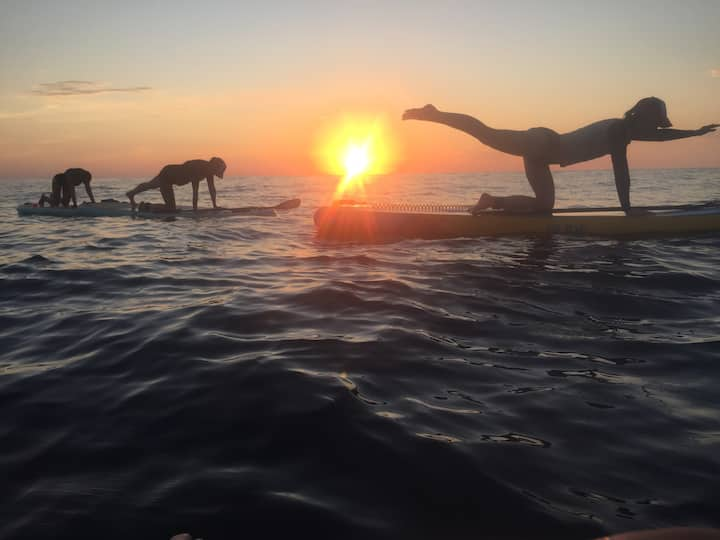 Sunset Stand Up Paddleboard YOGA