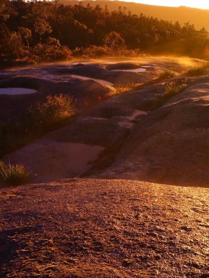 Ingrams Rock sunset