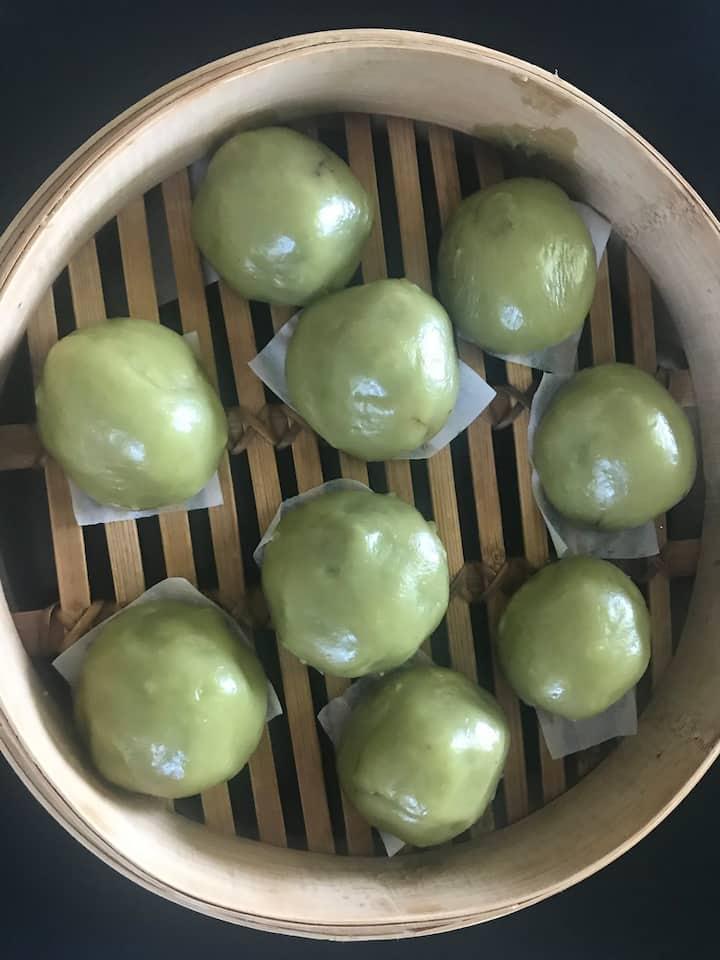 Soft  green dumpling ball