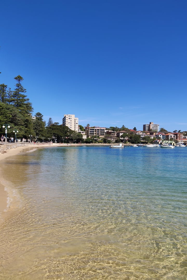 Calm waters on Manly Inner harbor