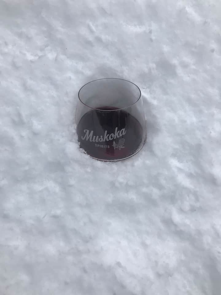 Wine In A Snowbank!