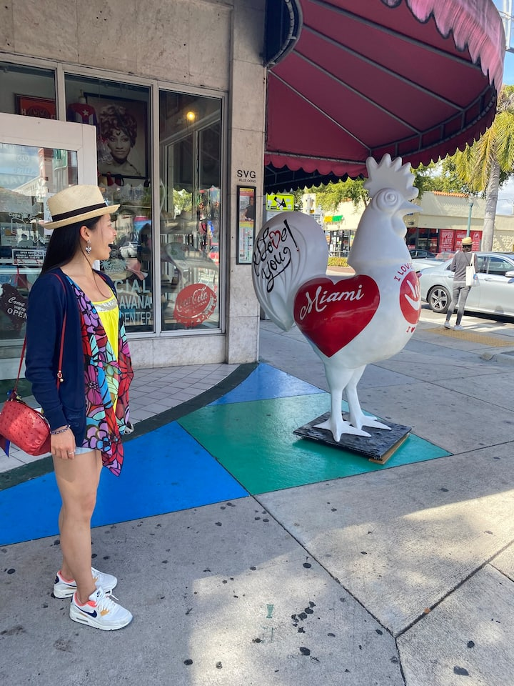 Calle Ocho and its famous roosters!