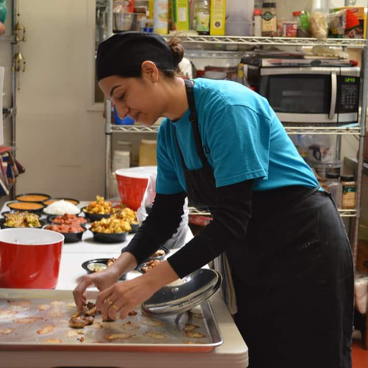 Peri in the kitchen