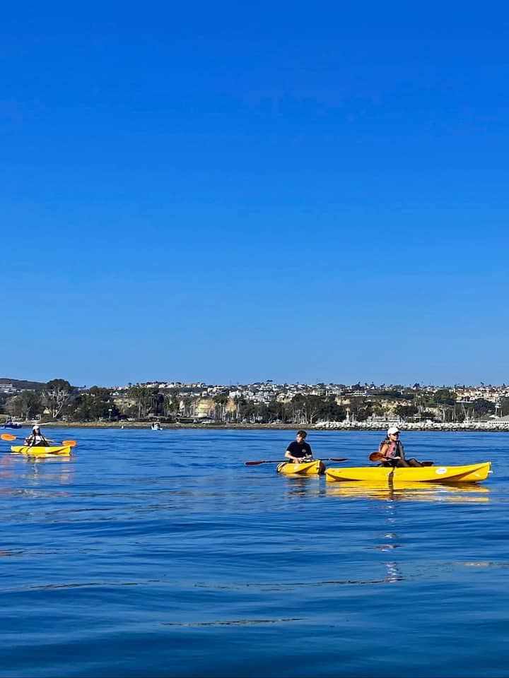 Kayaking on the pacific