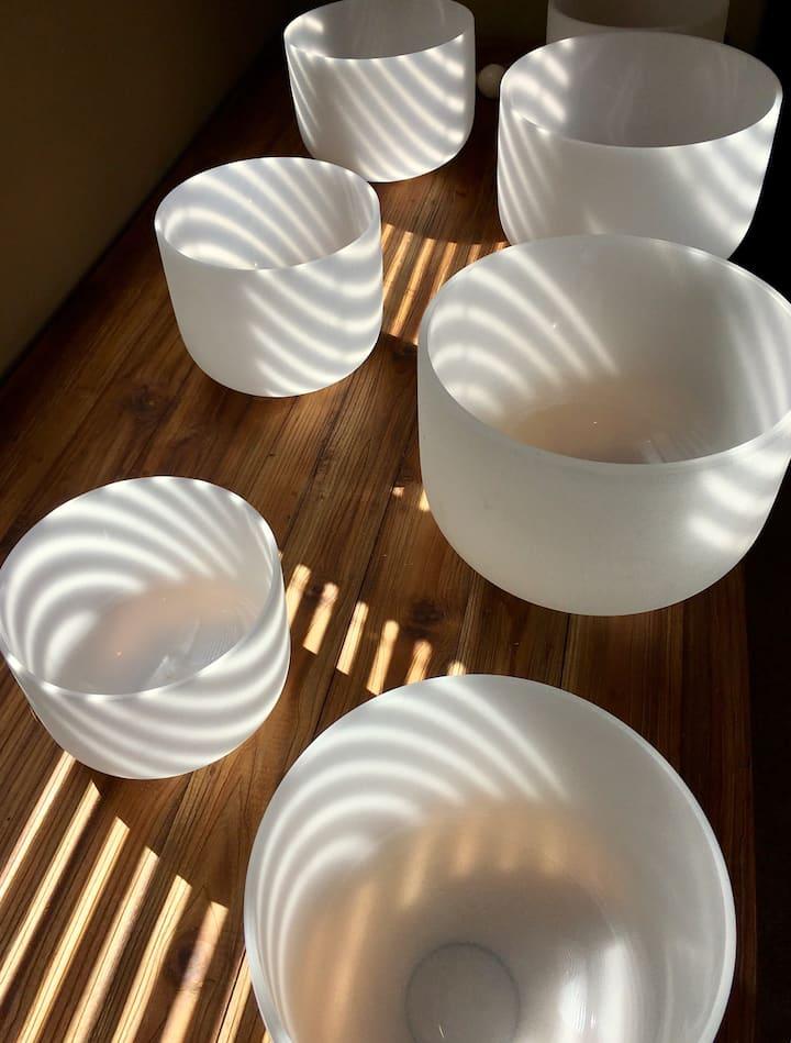 Quartz Bowls & Sunlight