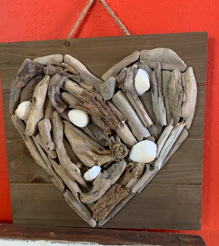 Driftwood freeform heart