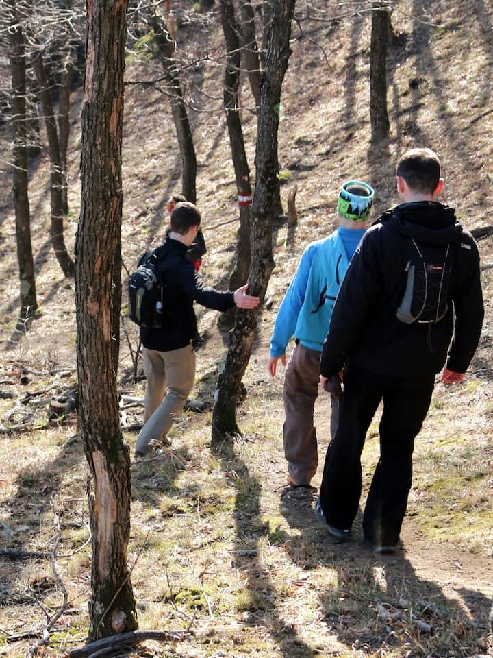 Hike in mountain