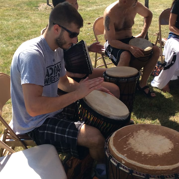 Drumming outdoors