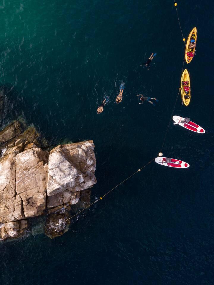 Snorkel en Piedra Pelicano