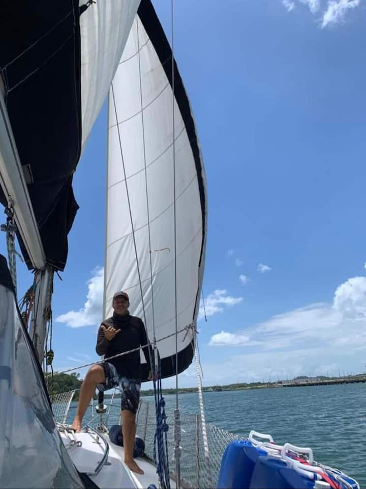 Em velejada