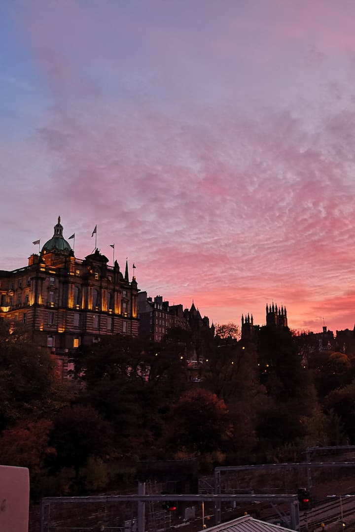 Edinburgh Old Town by Sunset