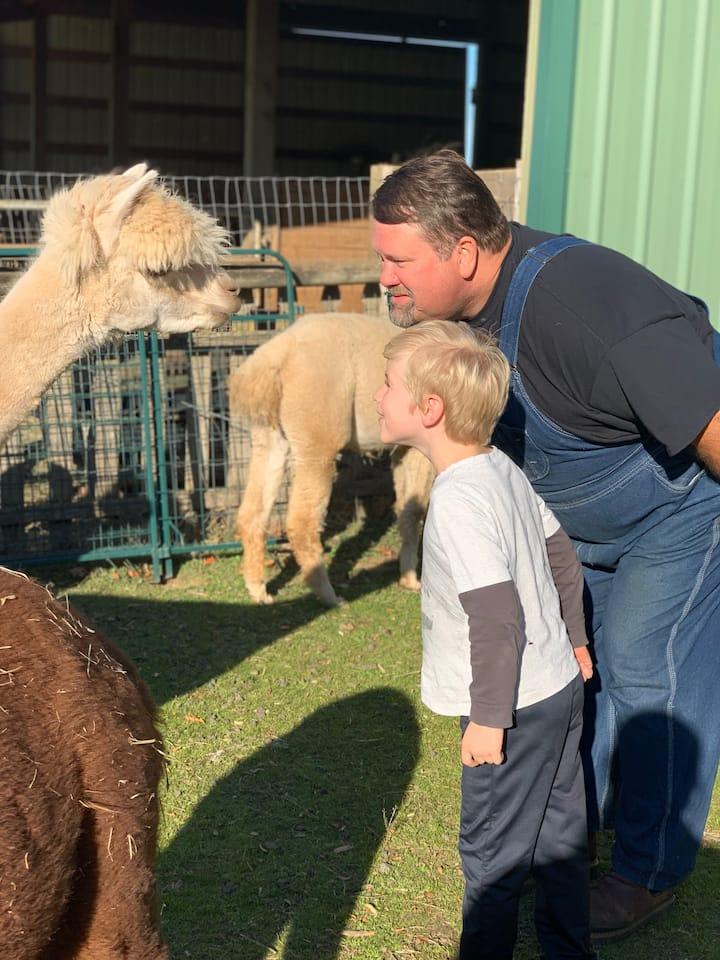 Doug shows a visitor nose kisses.