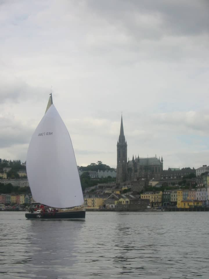 Yacht Racing in front of Cobh