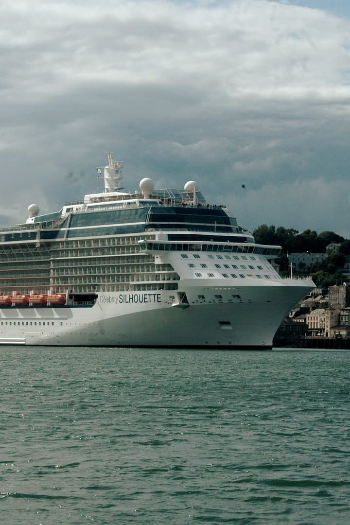 Cruise liner dwarfing Cobh