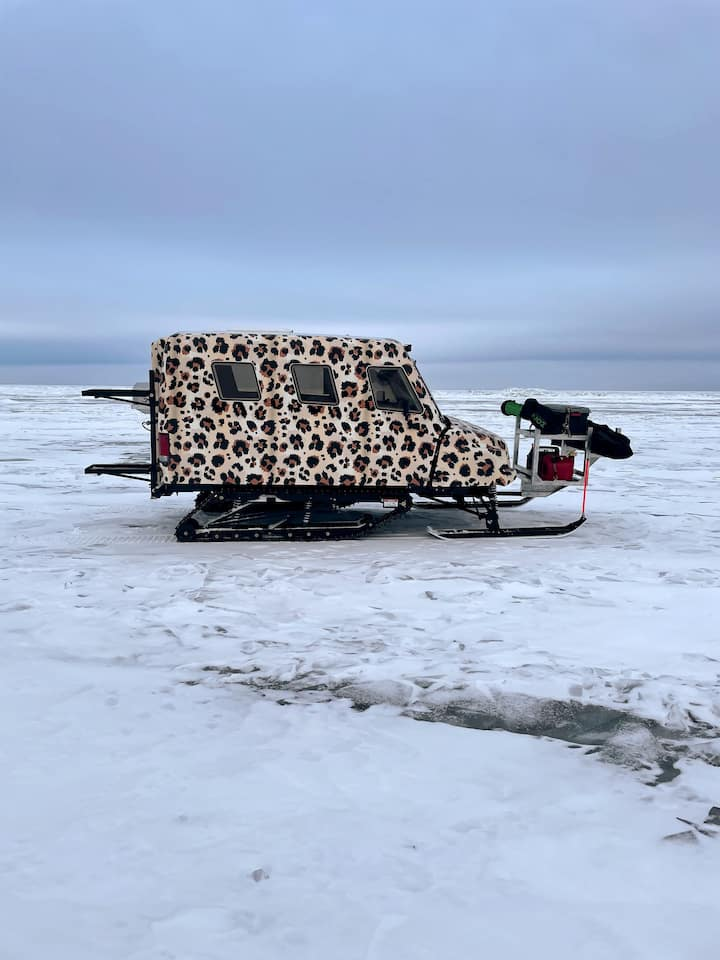 Enjoy a ride and ice fishing