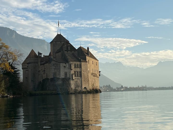 There is the beautiful Château.