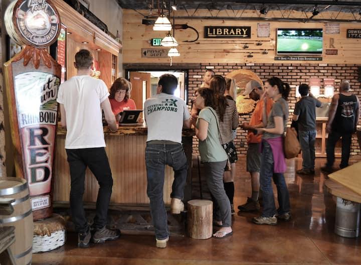 Guest enjoy Roscoe Brewery