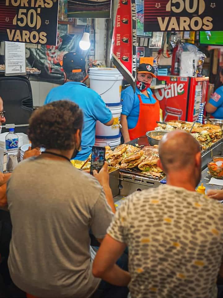 Comemos en el mercado
