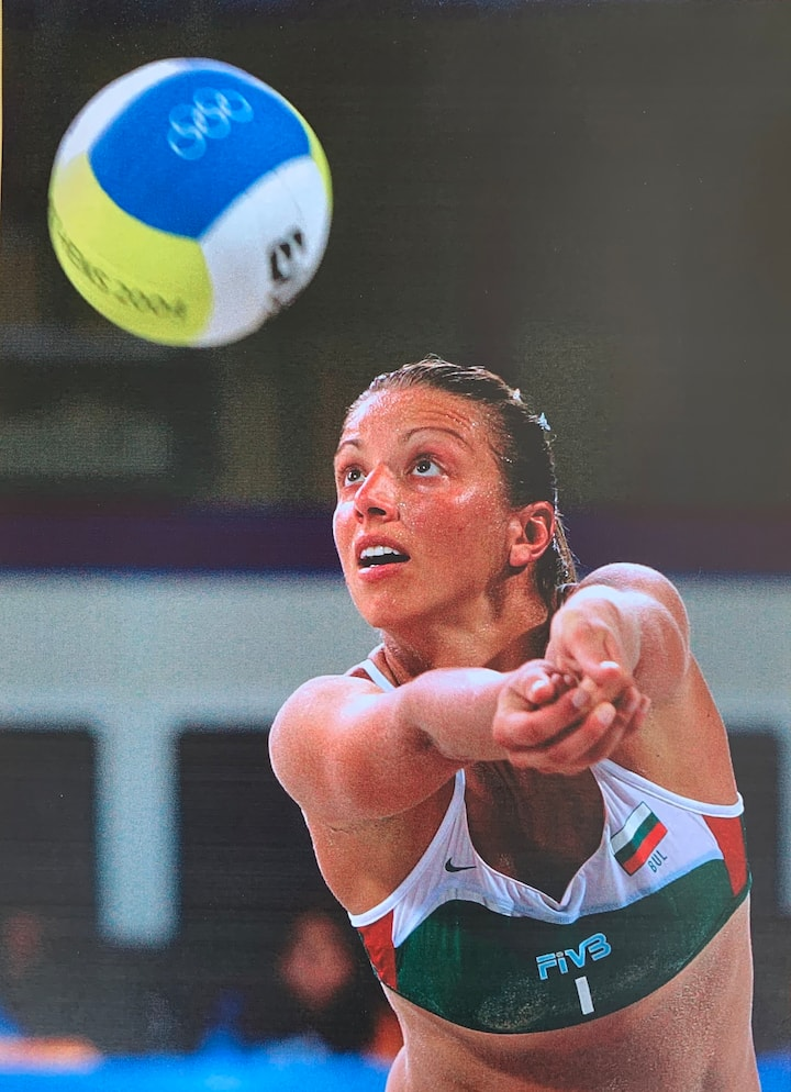 Lina playing in the Olympics