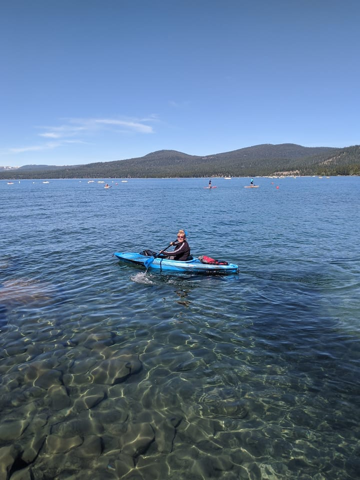 Kayak the North Shore of Lake Tahoe