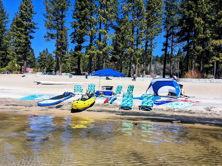 Fully Equipped Lake Tahoe Beach Day!