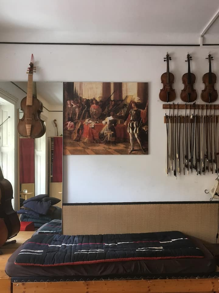 Our location: my music room