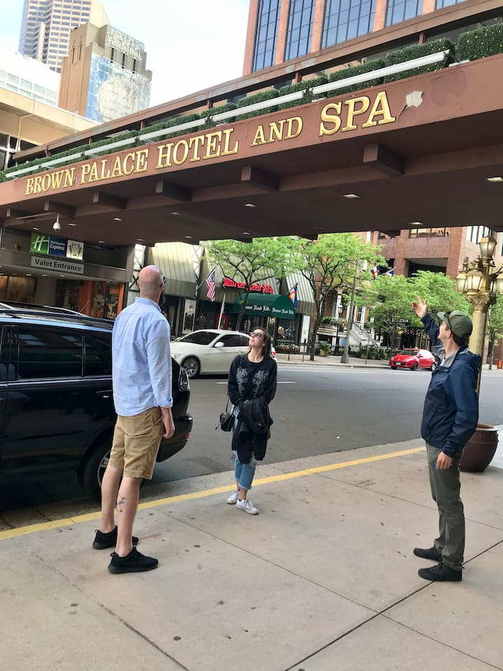 A stop at the Brown Palace Hotel