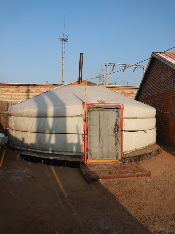 Yurt  from outside