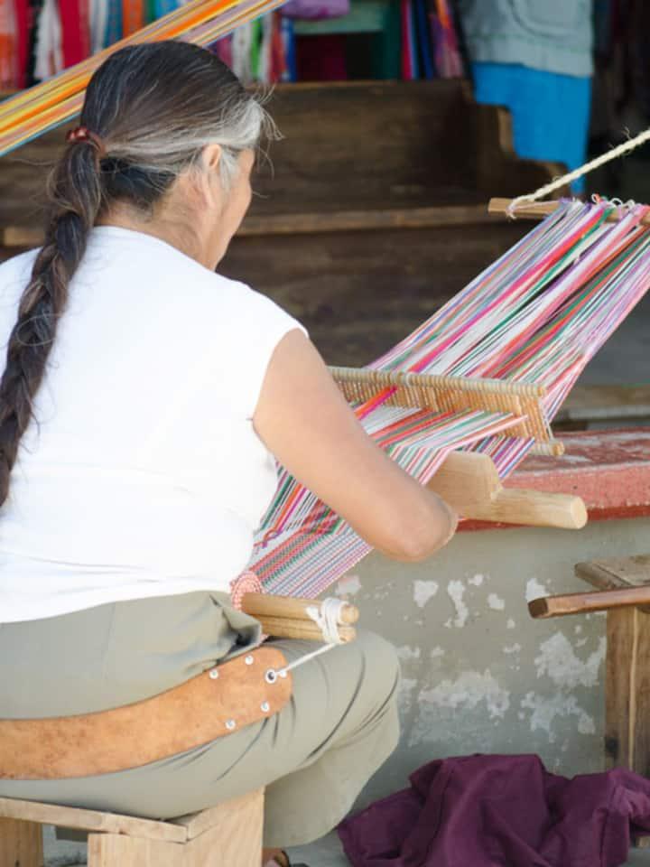 Tradicional telar de cintura