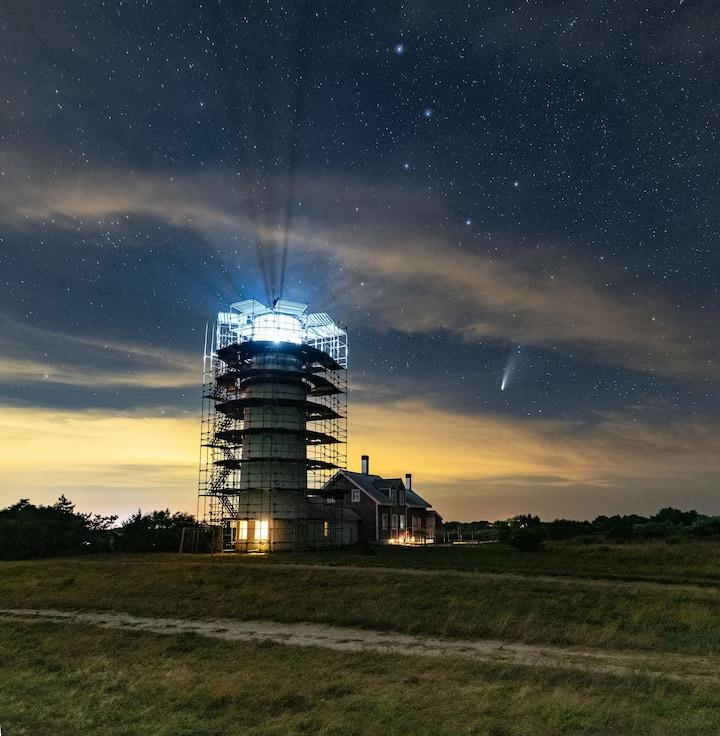 Comet over Cape Cod