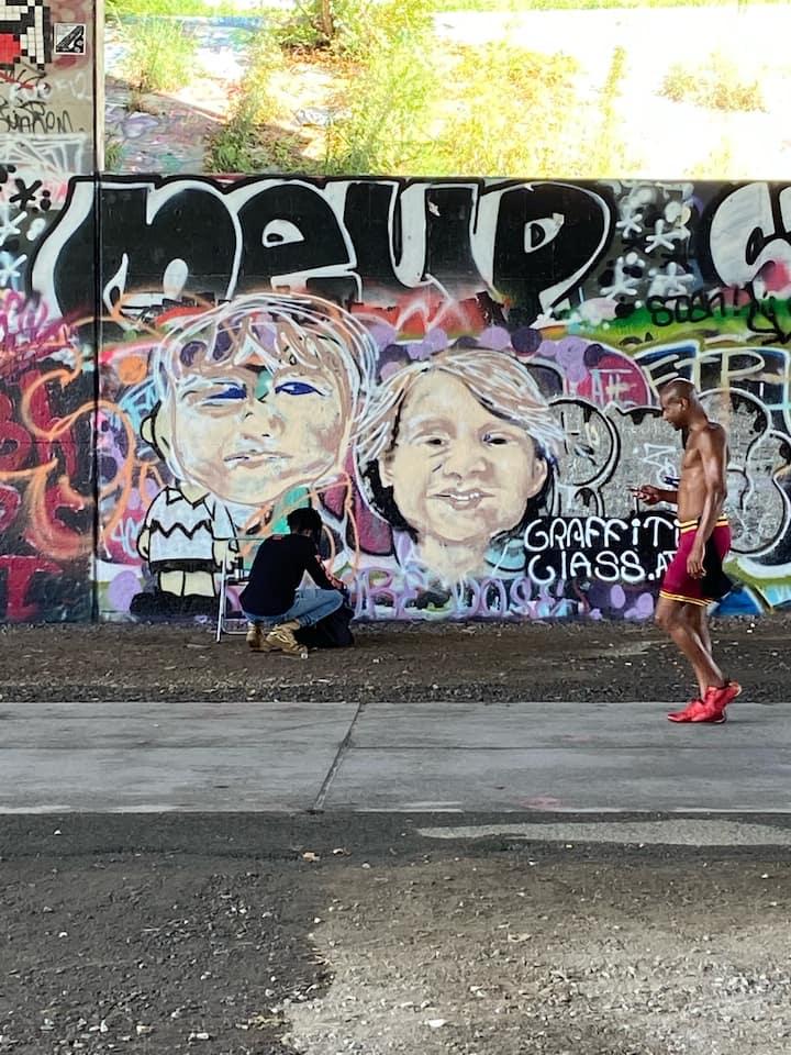 portrait mural demo