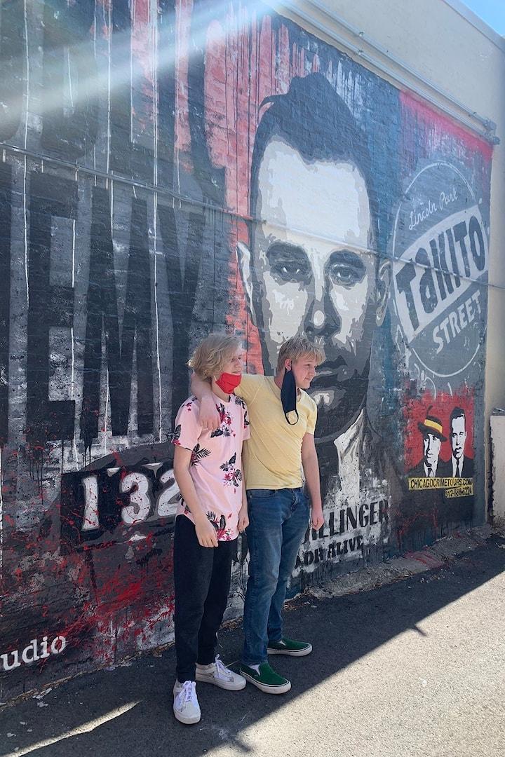 Mural in Dillinger's Alley