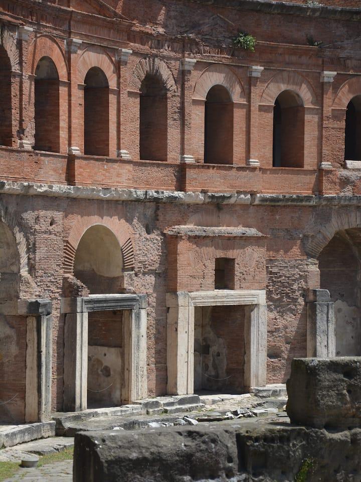 The entrances to ancient Roman shops