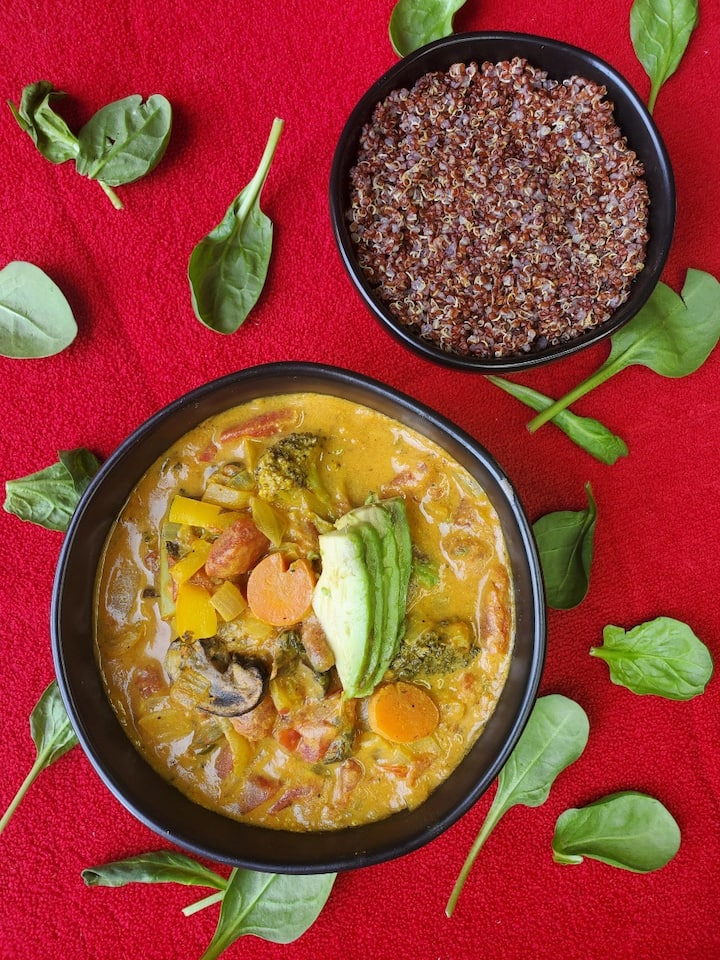 Coconut Curry Veggie Bowl with Quinoa