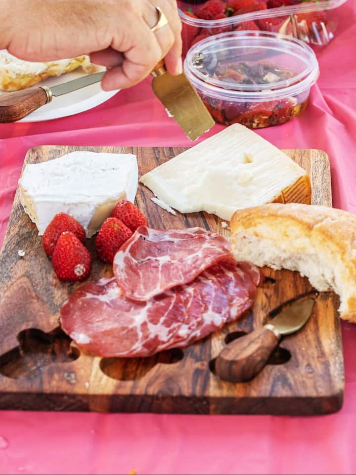 Cheese platters are also available