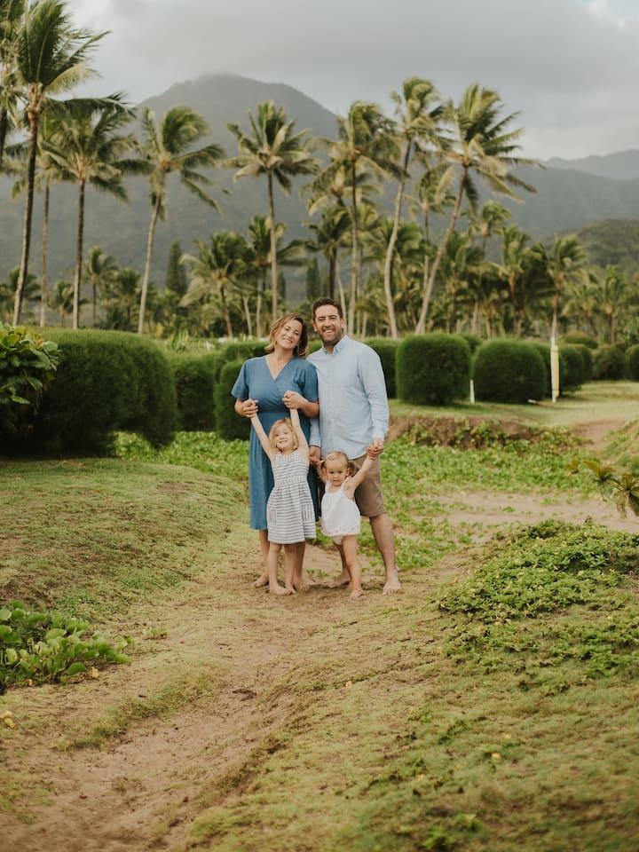 Kauai Family Photography Hanalei Bay