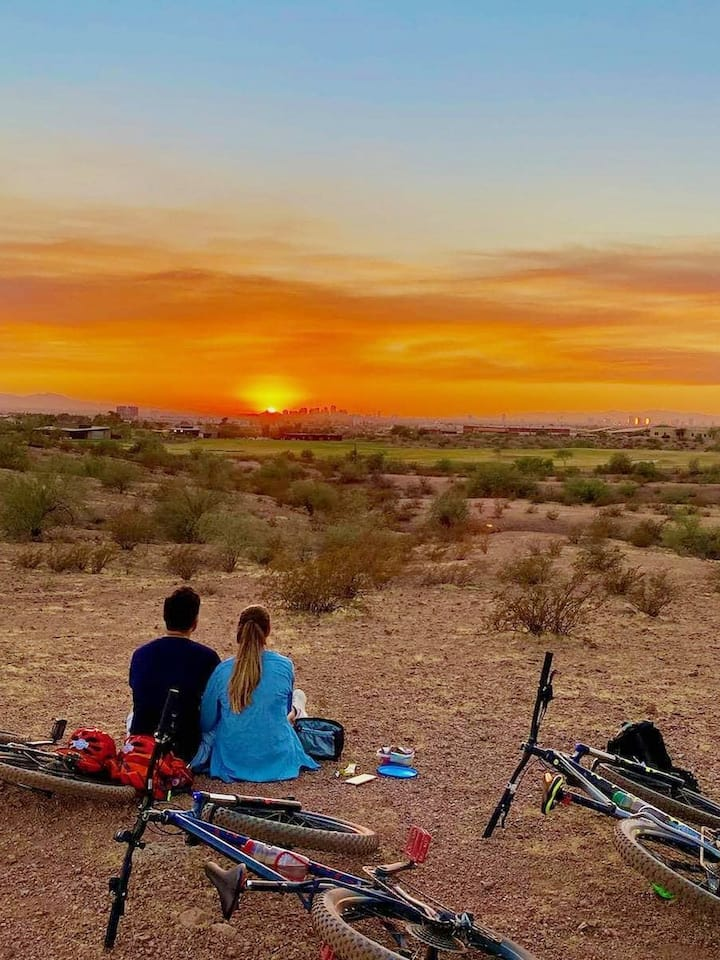 Our beautiful Desert Sunset by bike.