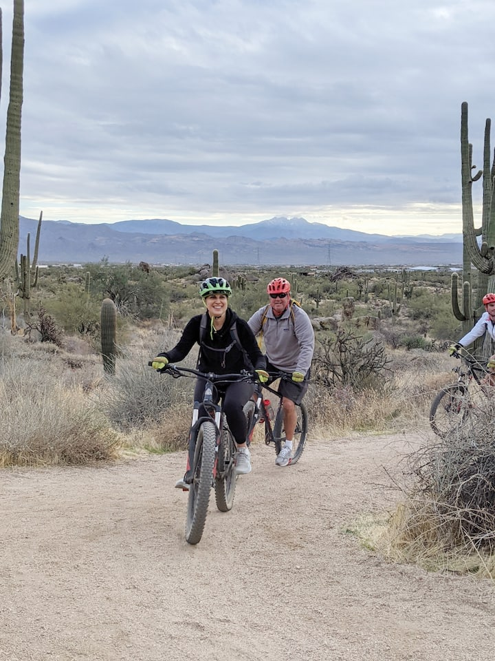 Explore with us on mountain bikes.