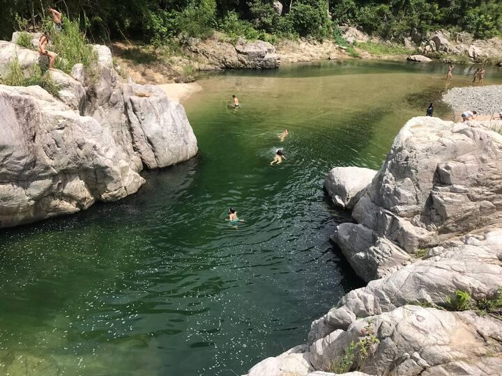 Swiming and relaxing at la playita
