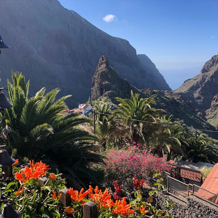 This is a view over famous Masca