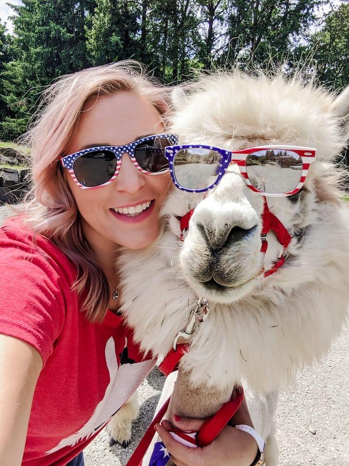 Shannon w/ Napoleon the Alpaca