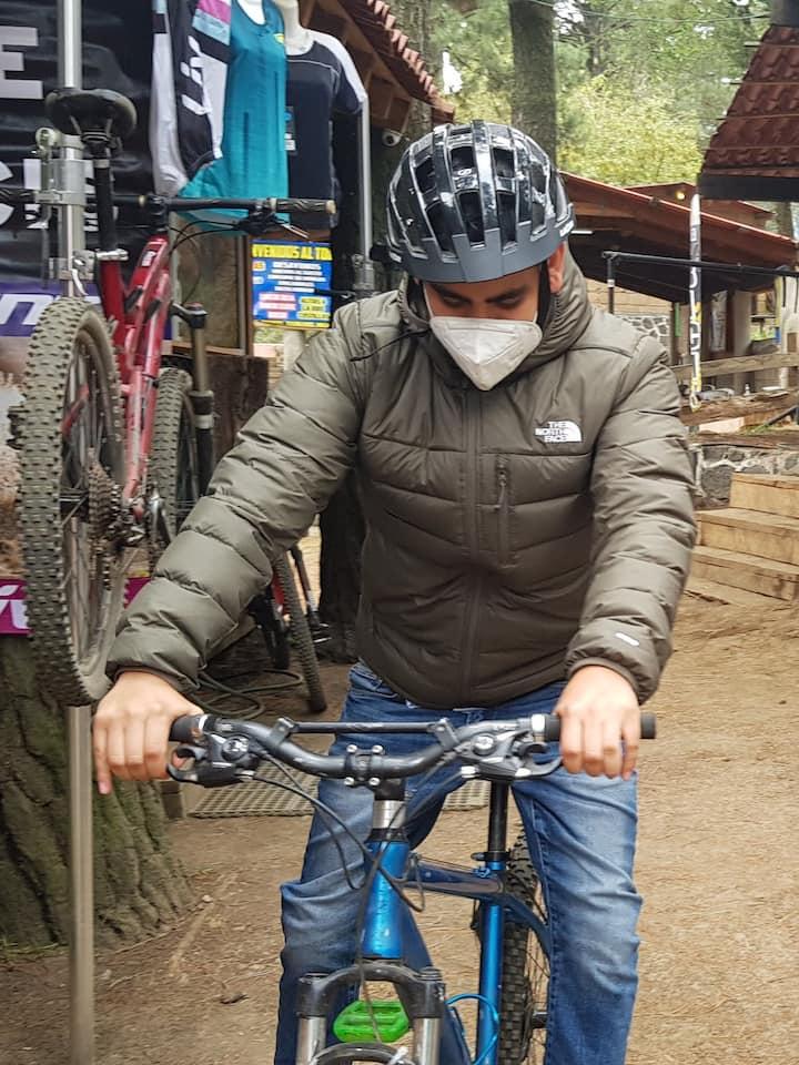 Testing the bike